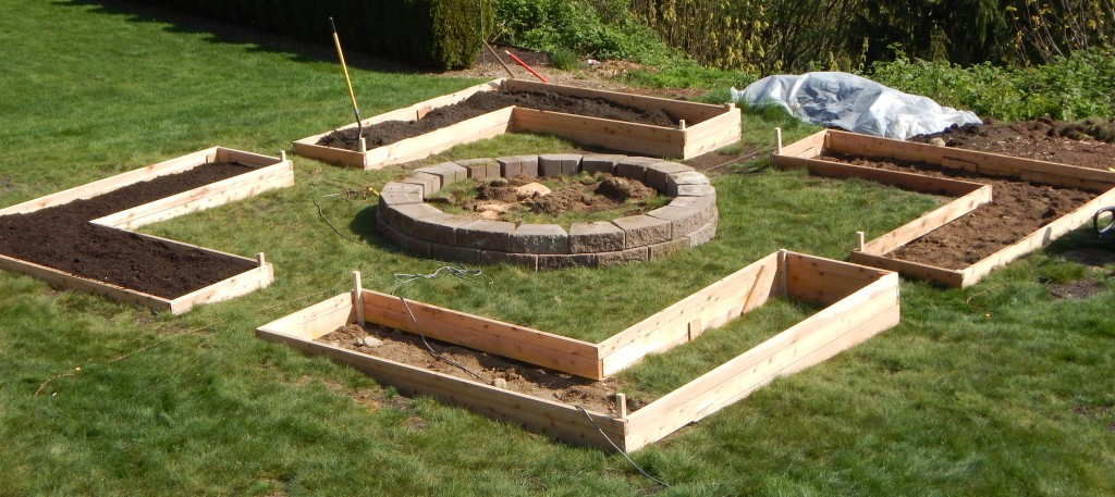 Garden - building raised beds
